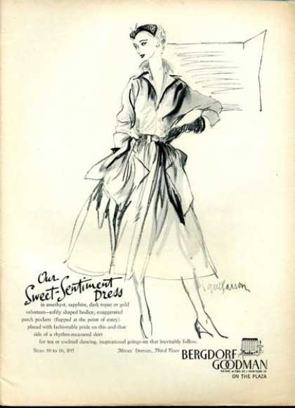 Bergdorf Goodman Fashion Sentiment Dress (1951)