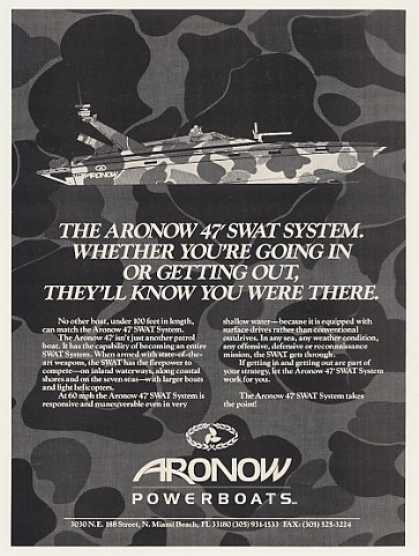 Aronow 47' SWAT System Military Boat (1989)