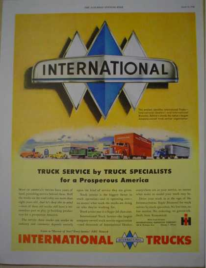 International Trucks Truck Service by Truck Specialists (1946)