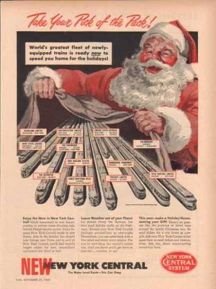 New York Central Railroad – Santa Claus – Sold (1949)