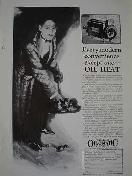 Williams Oil O Matic Heating AND Royal Vacuum Cleaner (1926)