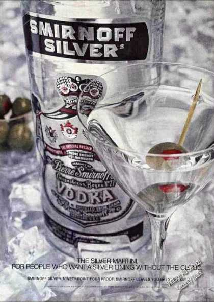 """The Silver Martini"" Mice Smirnoff Vodka (1975)"