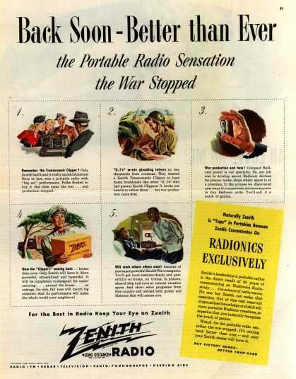 Zenith Radio Corporation's various – Back Soon-Better than Ever (1945)
