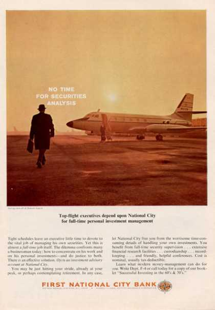First National Bank Private Jet Plane (1964)