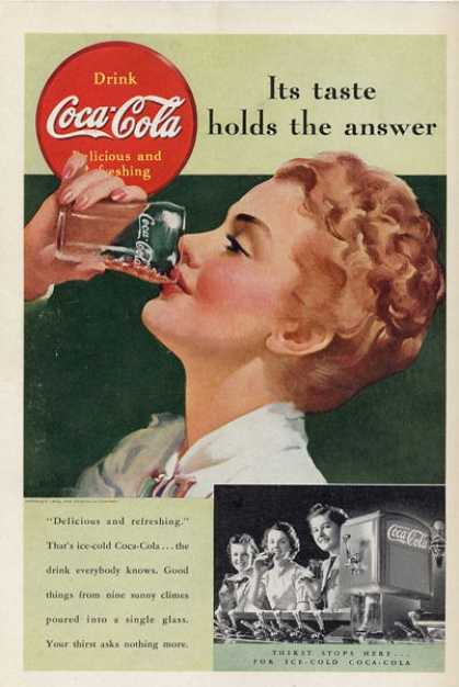 Coca Cola Woman Coke Glass T (1939)