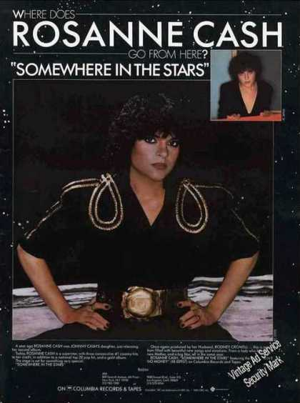 "Rosanne Cash ""Somewhere In the Stars"" Music (1982)"