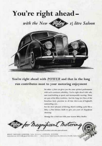 """Riley 1 1/2 Litre Saloon """"Magnificent Motoring"""" (1955)"""