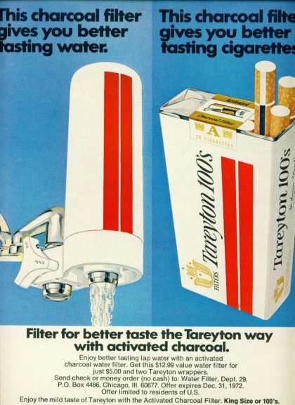 Taretyon 100s Cigarettes Charcoal Water Filter (1972)
