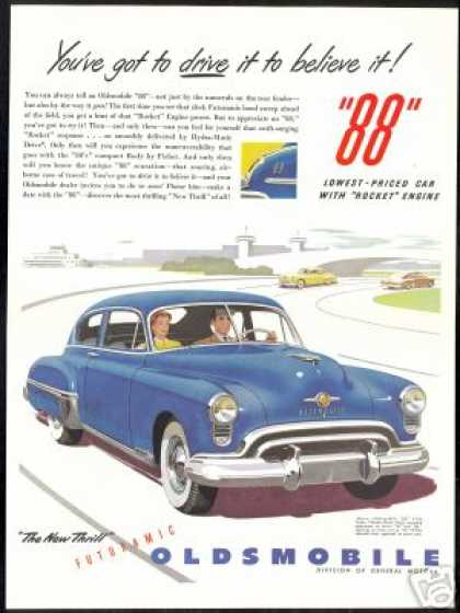 Blue Oldsmobile 88 Club Sedan Art Car (1949)