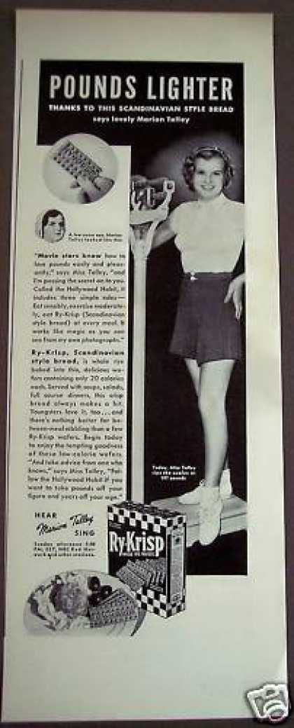 Ry-krisp Wafers Marion Talley Diet (1938)