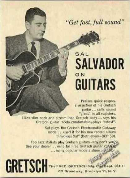 Sal Salvador Photo Rare Gretsch Guitars (1957)