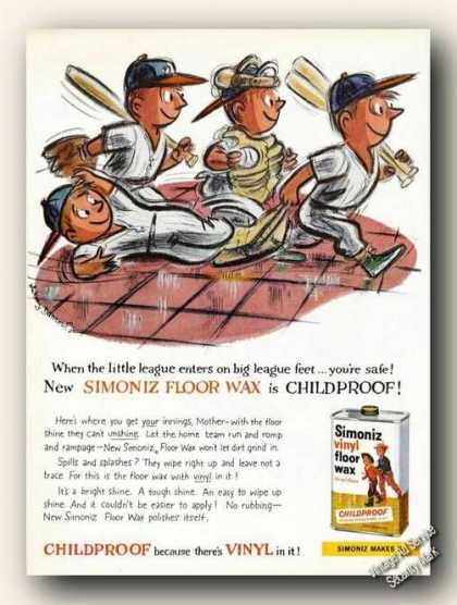 Whitney Darrow Jr Little League Art Simoniz (1959)