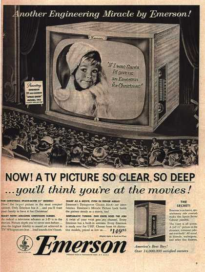 Allen B. Du Mont Laboratorie's Television – Now! A TV Picture So Clear, So Deep... you'll think you're at the movies (1953)