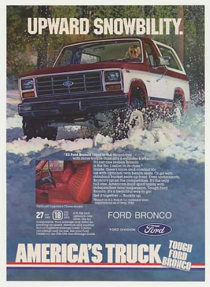 '82 1983 Ford Bronco Upward Snowbility Vintage (1982)