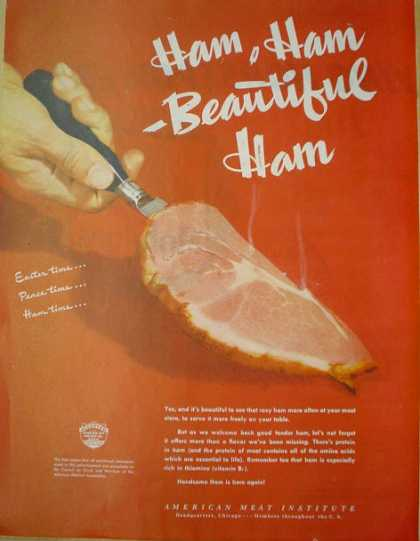 American Meat Institute Beautiful Ham (1946)