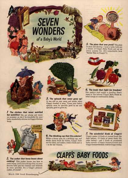 Clapp's – Seven wonders of a baby's world (1944)