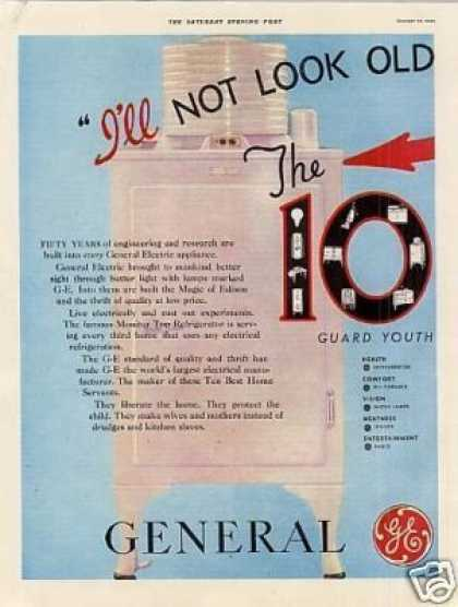 General Electric Refrigerator Ad 2 Page (1933)