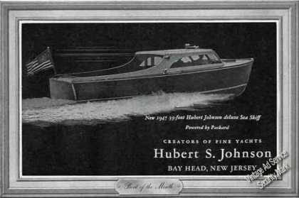 Hubert Johnson 33' Deluxe Sea Skiff Bay Head Nj (1947)