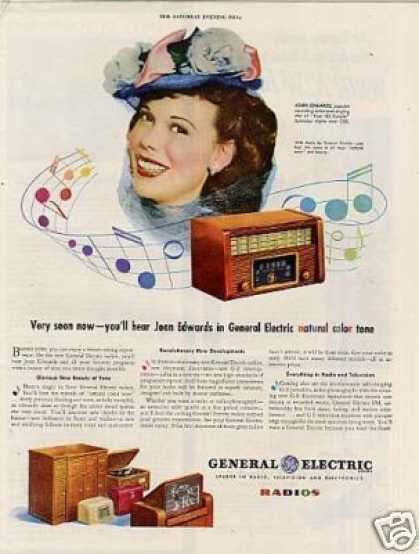 General Electric Radio Ad Joan Edwards (1945)