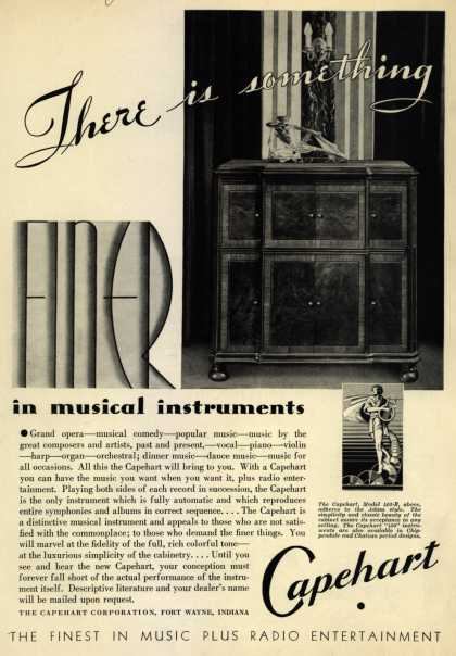 Capehart Corporation's Capehart model 402-B – There is something Finer in musical instruments (1933)