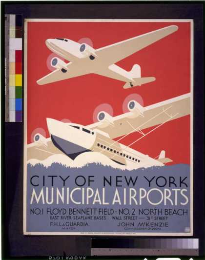 City of New York municipal airports – No. 1 Floyd Bennett Field – No. 2 North Beach. (1936)