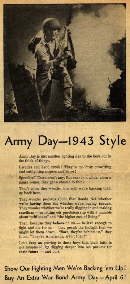 NA's War Bonds – Army Day – 1943 Style (1943)