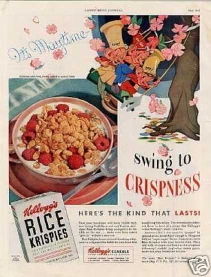 "Kellogg's Rice Krispies Cereal Ad ""Swing To... (1941)"