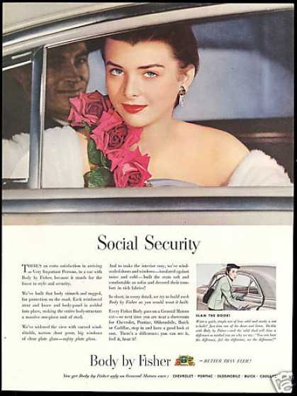 Social Security GM Car Body by Fisher (1950)