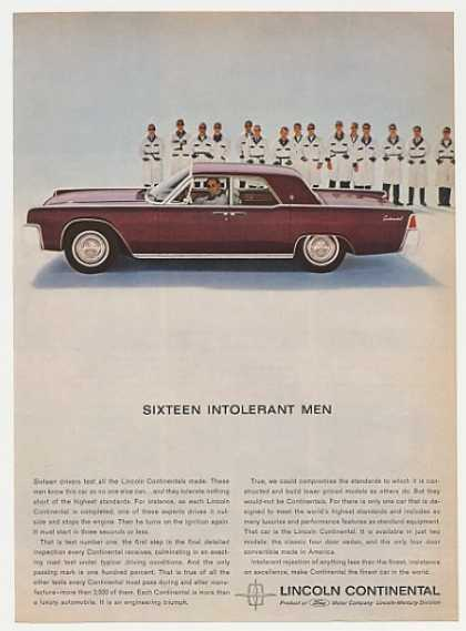 Lincoln Continental 16 Test Drivers (1963)