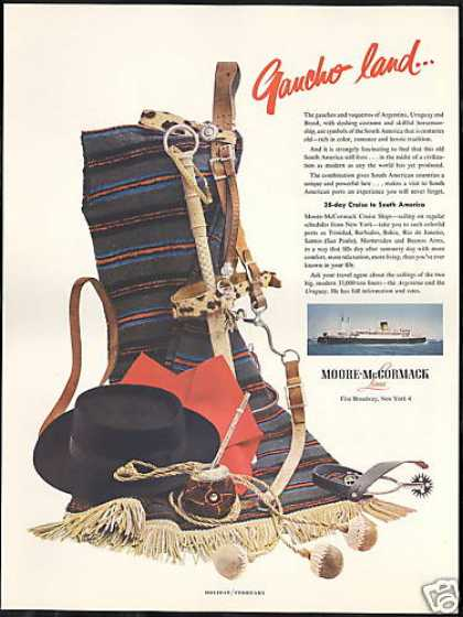 Moore McCormack Cruise Lines Argentina Gaucho (1954)