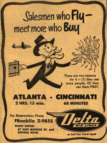 Delta Airline's Business Travel – Salesmen who Fly – meet more who Buy (1950)