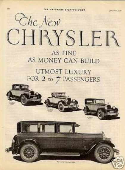 Chrysler Imperial Cars 2 Page Ad 4 Models (1926)