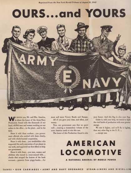 "American Locomotive's Army Navy ""E"" – Ours... and Yours (1942)"