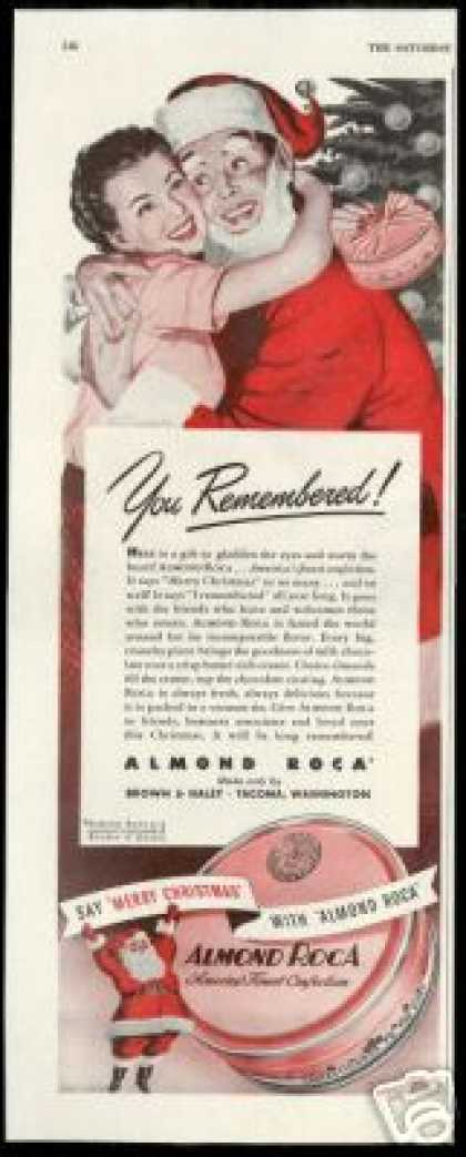 Almond Roca Candy Santa Christmas to Remember (1947)