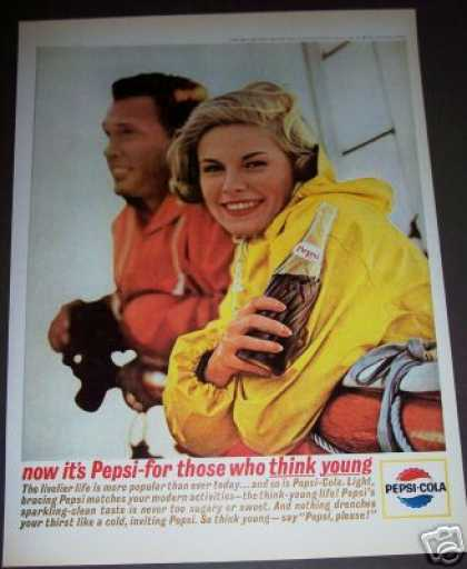 Original Pepsi-cola Soda Think Young (1963)