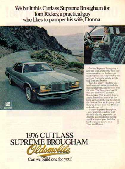 Oldsmobile Car – Cutlass Supreme Brougham – Sold (1976)