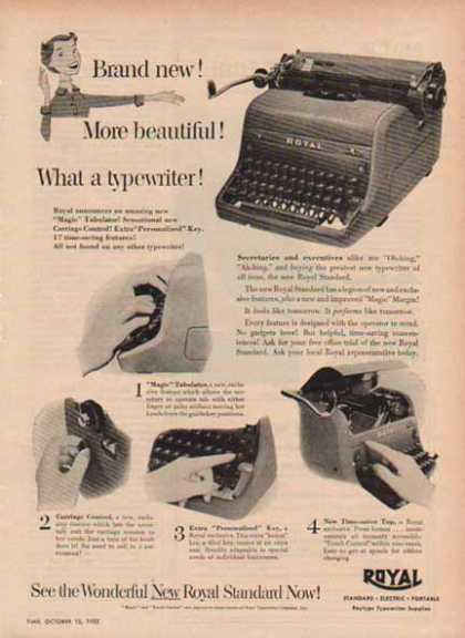 Royal Typewriter &#8211; Magic and Touch Control (1952)