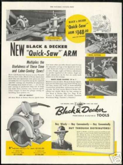 Black & Decker Quick Saw Arm Vintage Photo (1948)