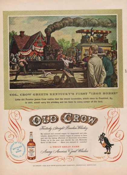 """Iron Horse"" Old Crow Whiskey (1951)"