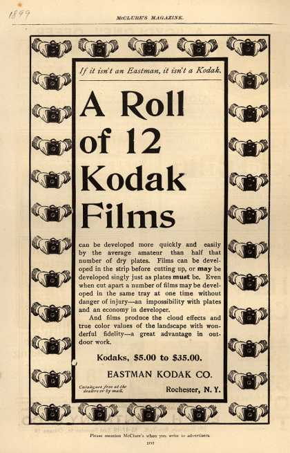 Kodak – A Roll of 12 Kodak Films (1899)