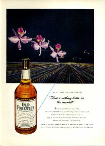 Old Forester Whisky Bottle Orchid (1951)