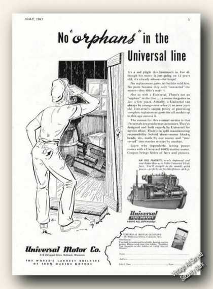 Universal Flexi-four Marine Motors Antique Boat (1947)