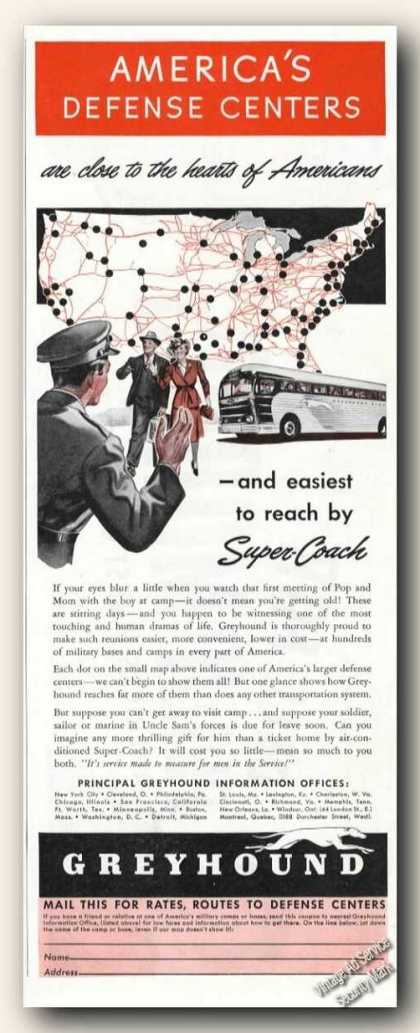 Greyhound Super-coach America's Defense Centers (1941)