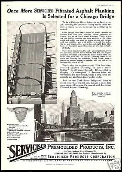 Chicago River Clark St Bridge Servicised (1930)