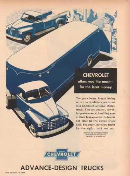 Chevrolet Trucks – Advanced Design for least money (1949)