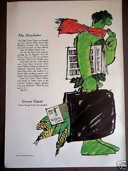 Jolly Green Giant Art Niblets Corn (1967)
