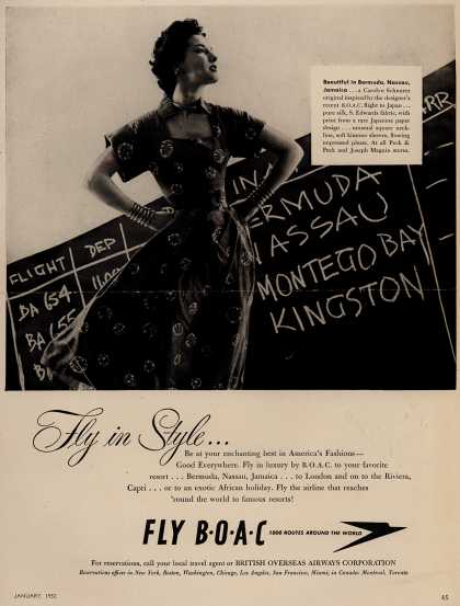 British Overseas Airways Corporation – Fly in Style... (1952)