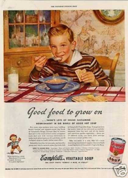 "Campbell's Vegetable Soup Ad ""Good Food... (1943)"