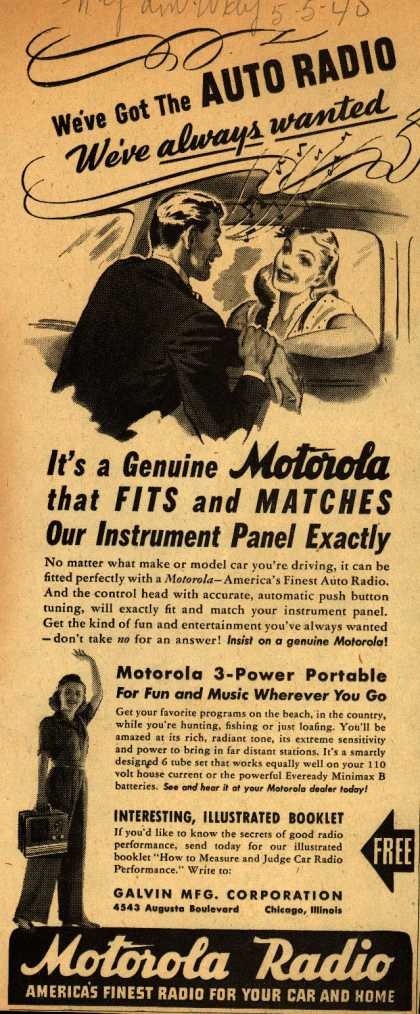 Motorola – We've go the AUTO RADIO we've always wanted (1940)