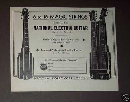 National Dobro Electric Guitars Console (1939)